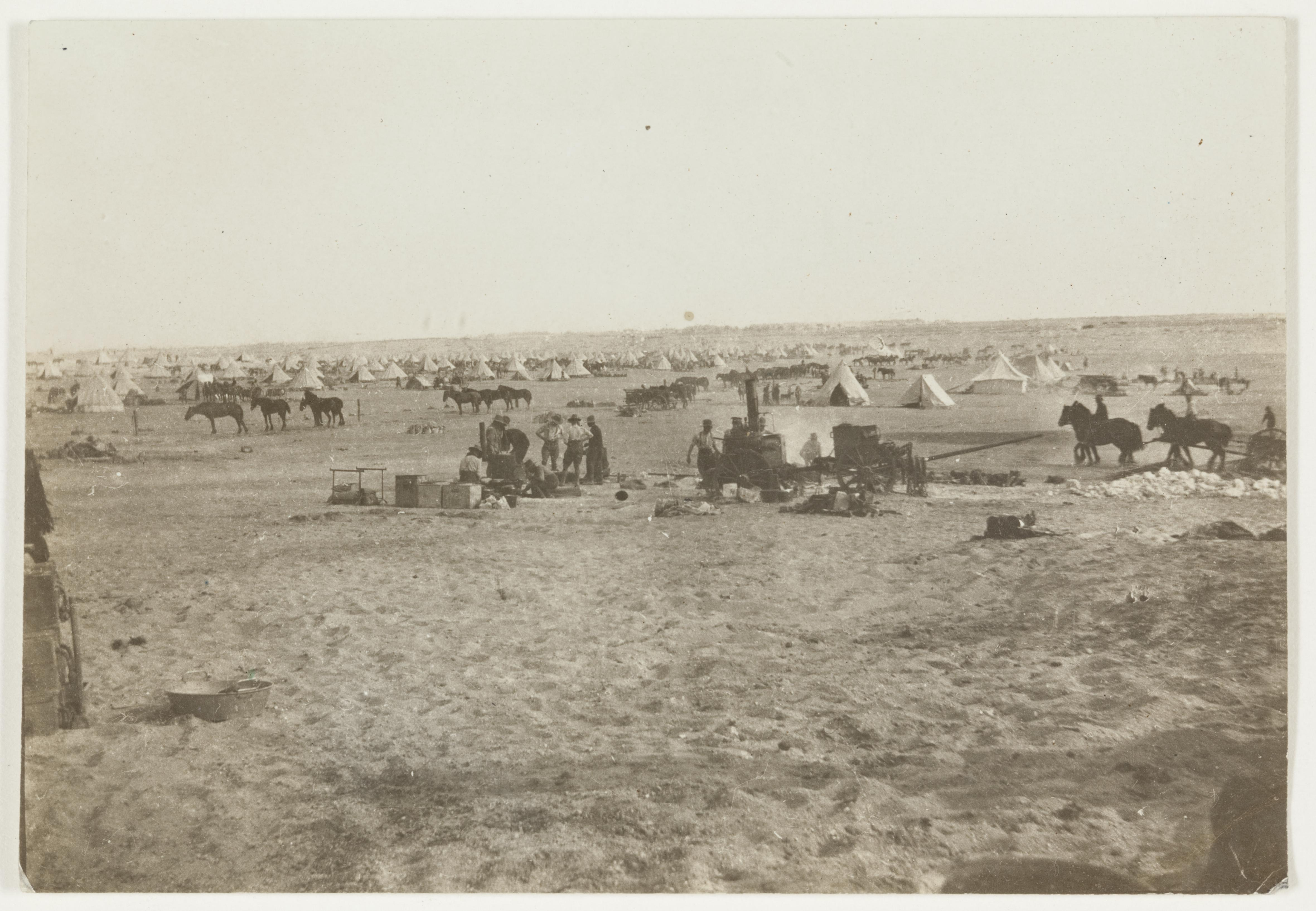 Serapeum Camp, Sinai Desert  by J.F. Smith of the 7th Light Horse in Egypt and Palestine, c. 1914-1918