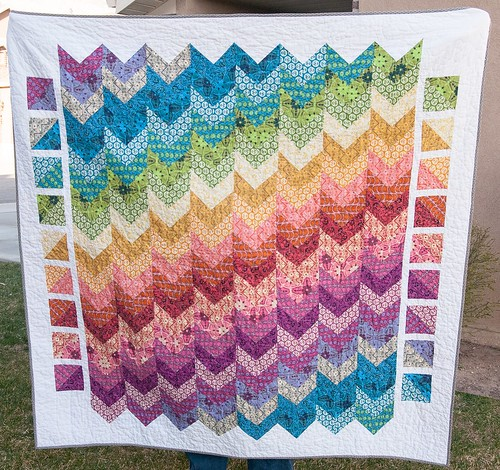 Finished True Colors Chevron Quilt