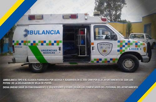 AMBULANCIA 14 AÑOS SLP FABRICADA PRO AEERSA