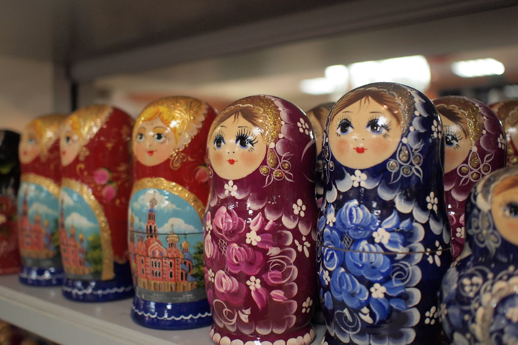 Matryoshka dolls, Red October Gift Store, St. Petersburg