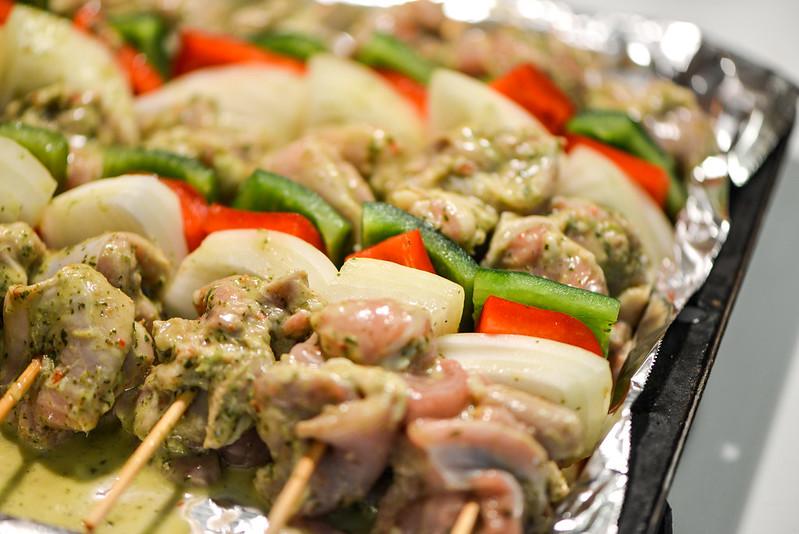 Chicken Fajita Kebabs