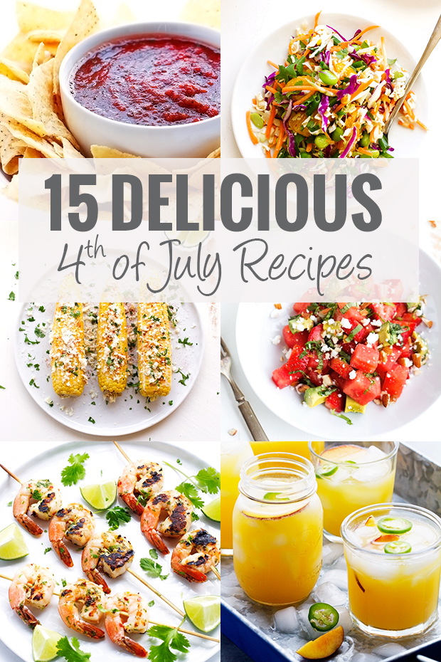 15 BEST 4th of July Recipes - QUICK + EASY so you can entertain in style! #4thofjuly #independenceday #partyrecipes #easyrecipes | Littlespicejar.com