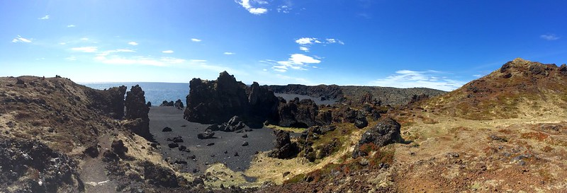Black lava beach
