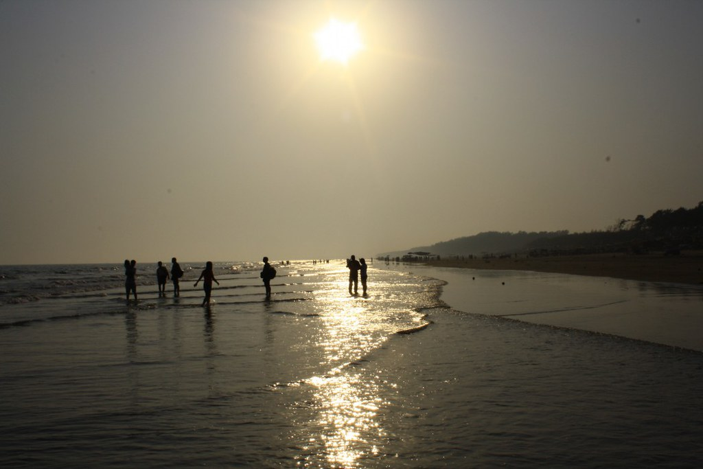 During Sunset at Digha Sea Beach - West Bengal, India