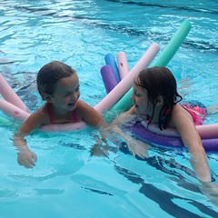 All the #pool #noodles are belong to us. #sisters #fun