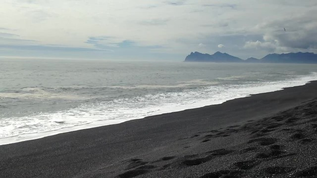Black sand beaches, southern Iceland