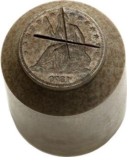1870 Half Dollar Cancelled Obverse Die