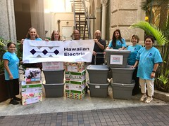Hawaiian Electric's Aloha Dream Center Toiletry Drive - February 1 - March 3, 2017: Ready to deliver our donations!