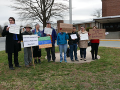 Demonstration at Montgomery County MD School Board Meeting