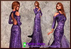 Paisley Daisy - Provocative Gown Purple