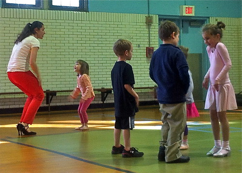 Chidren learn ballroom dancing from Ukrainian champ