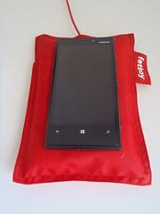Nokia Lumia 920 med Fatboy oplader
