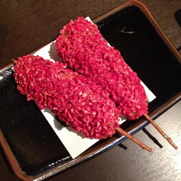 ササミに紅生姜の紅天、旨〜