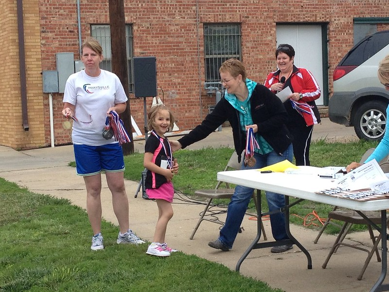 Third place in her age group!