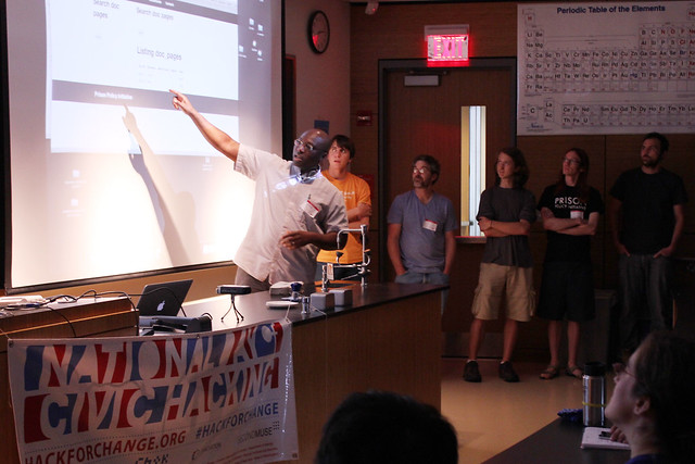 Prison Policy group presenting at Hack for Western Mass