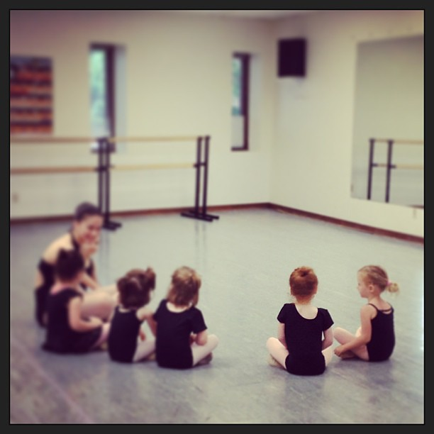 My heart is bursting. This is so adorable I can't even stand it. #ballet #first
