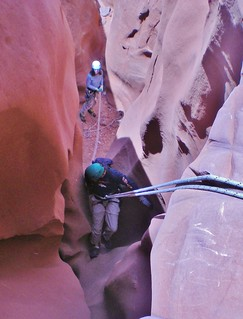 Fred Rappeling in West Fork of Leprechaun