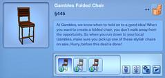 Gambles Folded Chair