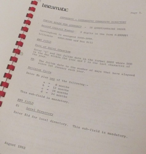 1982 Infoserve manual 52/25/1 #fp13 #technology by Hecuba's Story