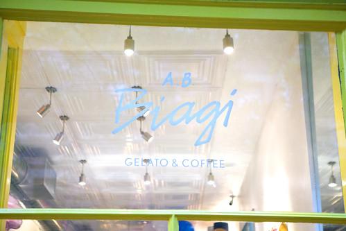 A.B. Biagi Gelato's window