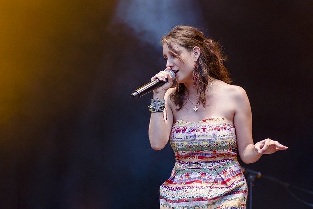 Le groupe Latino de la chanteuse Cecilia Gonzalez @ Beleuvenissen 2013