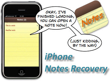 get your notes back your iPhone