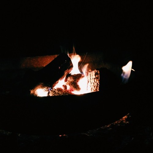 Camping fire yay.