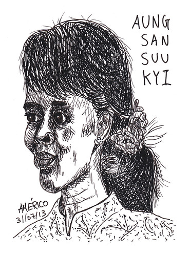 25 Aung San Suu Kyi, politian from Burma by americoneves