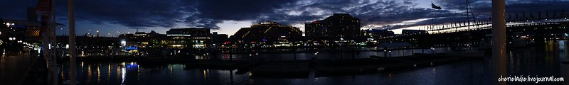 panoramic view of darling harbour, sydney