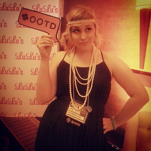 Having fun at the #lulustxsc13 photo booth! I love hashtags! #ootd