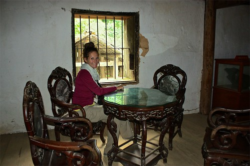 Lina in a meeting room of the old palace