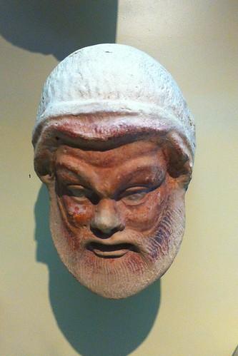 Head antifix of Silenus in the theater of Locri