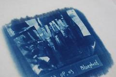 純手工-藍曬印T-Shirt