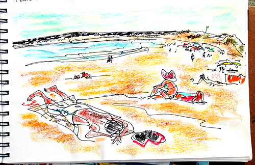 On the beach, Peniche
