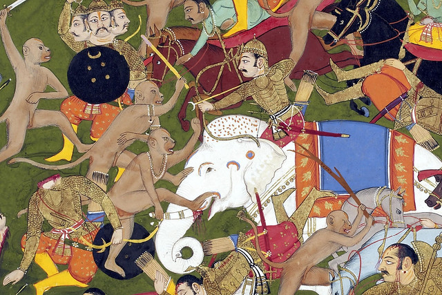 The battle at Lanka from the Ramayana, 1649-53