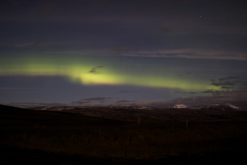 The northern lights from Þingvellir national park