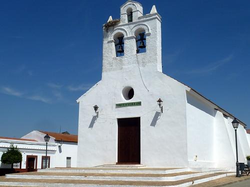 Huelva - San Silvestre de Guzman - Iglesia  37 23' 8.04 -7 21' 8.37