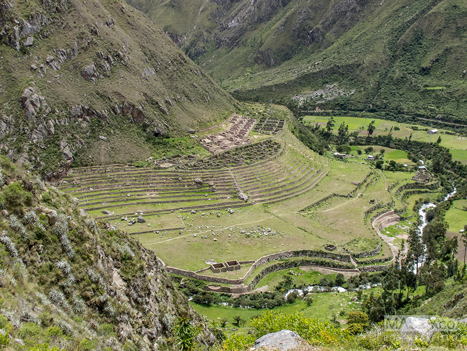 The terraced farming ruins known as 'Llaqtapata'.
