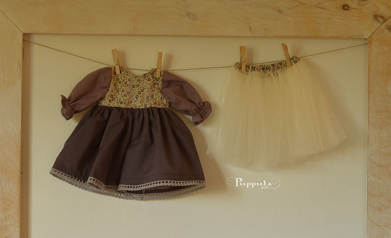 Dress with tulle  underskirt for a 15 inch doll
