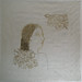 手帕系列No title. 感光樹酯版印於復古手帕Photopolymer on vintage handkerchief. 28 x 28 cm. 2013