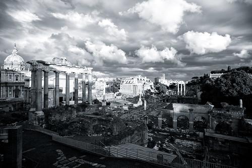 nubi sulla Roma antica