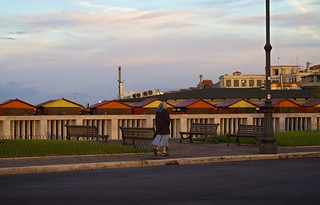 Image of Battistini. street italy rome beach golden colours nun ostia pontile religioussister