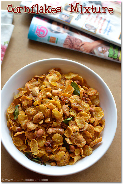 how to make spicy corn flakes at home