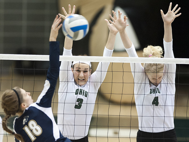 Akron At Ohio Volleyball 1