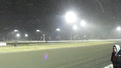 SnapShot | Snow Flakes Fly Before Race 1 #Meadowlands