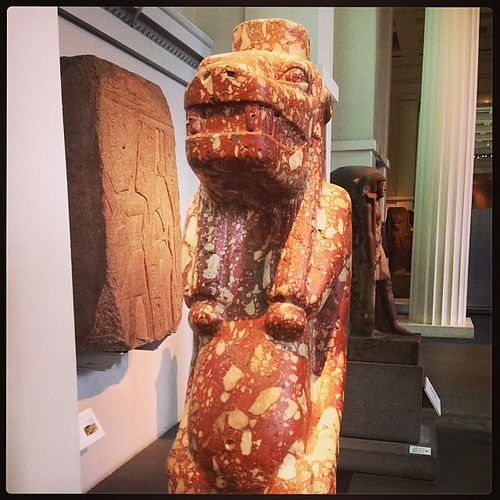 Trying to remember the description of this pregnant Egyptian goddess. Was something like 'body of hippo, temper of a lion, head of crocodile'. Yep. That about covers it.