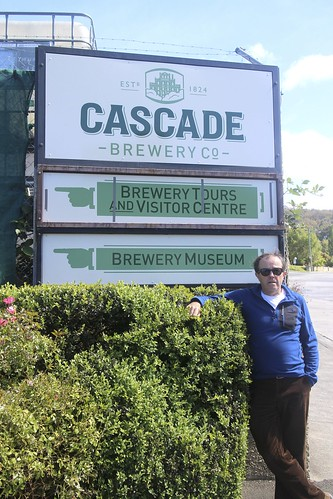Dad at the Cascade Brewery