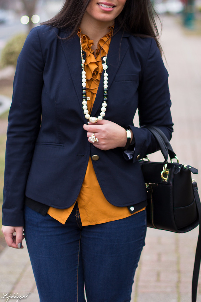 orange ruffled blouse, navy blazer-3.jpg