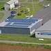 MassDOT posted a photo:	Aerial view of the rooftop solar installation at theNorthampton Airport