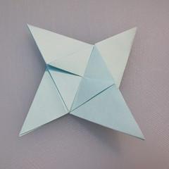 การพับกระดาษรูปดาวกระจาย (Star Origami – スターの折り紙) 016